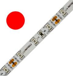 Color LED pásek WIRELI 3528  60 625nm 4,8W 0,4A 12V (červená)-Standardní barevný LED pásek malého výkonu.