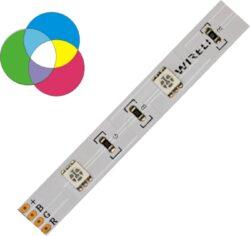 RGB LED pásek 5050  30 WIRELI 7,2W 0,6A 12V IP20-RGB LED pásek s velkou roztečí LED.