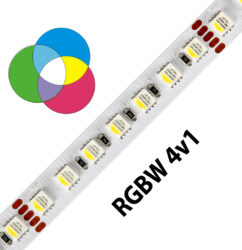 RGBW LED pásek 5050  98 WIRELI 28,8W 1,2A 24V IP20-Unikátní RGB-W pásek 4v1 na 24V.