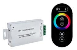 RGB řadič s dálk.ovládáním RADIO RF2 3x4A RAIBOW 12V 12A 144W-Dotykový RF ovladač pro řízení RGB pásků.