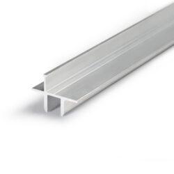 Profil WIRELI16 TWIN na sklo 8mm hliník anoda 2m (metráž)-Profil pro upevnění skleněných polic  tloušťky 8mm s možností podsvícení.
