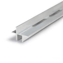 Profil WIRELI16 TWIN + na sklo 8mm hliník anoda 2m (metráž)-Profil pro upevnění skleněných polic  tloušťky 8mm s možností podsvícení a s prosvětlením skleněné police.