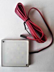 Světlo LED SLIM KVADRANT bílá studená LED 2W 12V DC 60x60x7mm