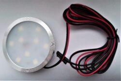Světlo LED SLIM RING DIFUZOR JEMNĚ MATNÝ bílá studená 2W 12V 60x7mm (vrut)-Kvalitní LED svítidlo Wireli. Montáž dvěma vruty.