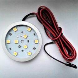 Světlo LED SLIM RING DIFUZOR JEMNĚ MATNÝ bílá teplá 2W 12V 60x7mm (na lepení)-Kvalitní LED svítidlo Wireli. Montáž lepením 3M páskou.