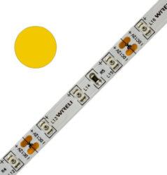 Color LED pásek WIRELI 3528  60 590nm 4,8W 0,4A 12V (žlutá)-Standardní barevný LED pásek malého výkonu a netradiční barvy.