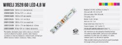 Color LED pásek WIRELI 3528  60 590nm 4,8W 0,4A 12V (žlutá)(3202121609)