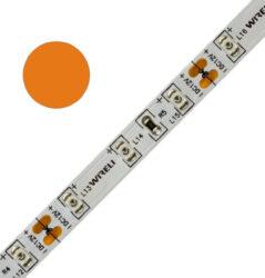 Color LED pásek WIRELI 3528  60 604nm 4,8W 0,4A 12V (oranžová)-Standardní barevný LED pásek malého výkonu a netradiční barvy.