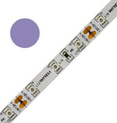 Color LED pásek WIRELI 3528  60 370nm 4,8W 0,4A 12V (fialová - purpurová do růžo-Čip 3528. Značkový designový LED pásek WIRELI. Použití: designové podsvícení interiéru, slabé osvětlení například šatních skříní. Spektrum purpurové barvy je velmi široké - pro specifikaci odstínu před objednáním kontaktujte produktového manažera.