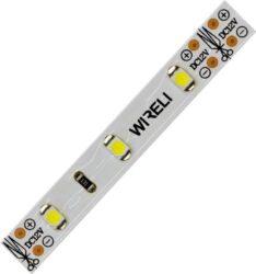 LED pásek 5m 3528  60 WIRELI + 2x kabel WW 480lm 4,8W 0,4A-5 metrový návin LED pásku se 2m černo/červeného kabelu 0,25mm na každém konci.