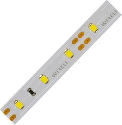 LED pásek 5m 2835  60 WIRELI + 2 x kabel WW 1440lm 14,4W 1,2A 12V-5 metrový návin LED pásku se 2m černo/červeného kabelu 0,25mm na každém konci.