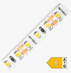 LED pásek 3528  96 WIRELI SS 670lm 7,68W 0,64A (extra teplá)                    -LED pásek malého výkonu se zvýšeným počtem LED s extrémně teplou barvou světla.