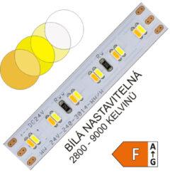 CTA LED pásek 3014 240 WIRELI 1500lm 12W 0,5A 24V (variabilní bílá)-Umožňuje libovolné nastavení barevné teploty světla a intenzity světla pomocí sofistikovaného CCT ovladače. Vysoká hustota LED umožňuje vytvářet souvislé světelné linie.