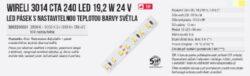 CTA LED pásek 3014 240 WIRELI 2x1500lm 24W 1A 24V (variabilní bílá)(3202200601)