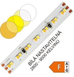 CTA LED pásek 10mm 2216 252 WIRELI 914lm 8,64W 0,36A 24V (variabilní bílá)-Umožňuje libovolné nastavení barevné teploty světla a intenzity světla pomocí sofistikovaného CCT ovladače. Vysoká hustota LED umožňuje vytvářet souvislé světelné linie.