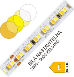 CTA LED pásek 2835 224 WIRELI 2x1250lm 23W 0,96A 24V (variabilní bílá)