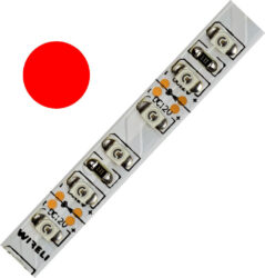 Color LED pásek WIRELI 3528  120 625nm 9,6W 0,8A (červená)                      -Barevně svítící LED pásek s vysokou hustotou LED.