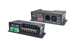 Převodník DMX512/PWM čtyřkanálový-Umožňuje řízení vícekanálových (RGBW) PWM LED sestav signálem DMX512