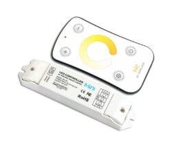 Dotykový dálkový ovladač CTA s přijímačem-Pro řízení CCT LED pásků umožňujících změnu barevné teploty