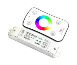 Dotykový dálkový ovladač RGB s přijímačem                                       -Pro řízení RGB pásků