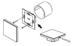 Ovladač dotykový AC 230V čtyřzónový CTA inteligentní na stěnu bílý(3204000087)
