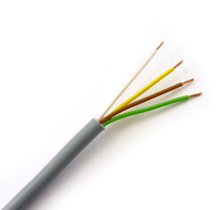 Kabel RGB kulatý 4x0,5mm2, metráž-Pro vnitřní rozvody napájení RGB LED sestav