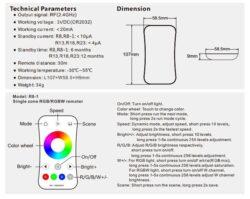 Dotykový dálkový ovladač RGB s přijímačem B(3204000099)