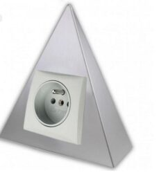 Zásuvka GT1-G, povrch hliník-Zásuvka pod kuchyňskou linku rohová trojúhelníková