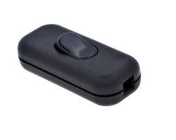 Vypínač kolébkový šňůrový 230V, černý                                           -Vypínač pro všeobecné použití