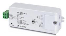 Universální inteligentní RF přijímač typ A-Jednokanálový přijímač RF signálu pro ovládání jednobarevných napěťově napájených LED sestav