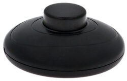 Vypínač šňůrový nášlapný kruhový, 230V, bílý-Nášlapný vypínač pro všeobecné použití