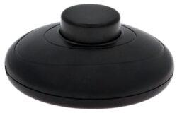 Vypínač nášlapný šňůrový 230V, černý-Nášlapný vypínač pro všeobecné použití