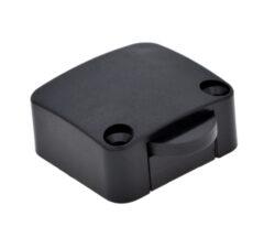 Vypínač mechanický 12V/max.2A, černý-Spínač pro osvětlení vnitřního  prostoru skříně při otevření dveří