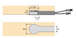 Kapacitní spínač typ C k zafrézování (hnědý)(3204027603)