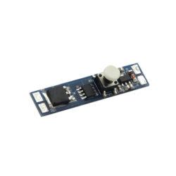 Vypínač a stmívač do LED profilu mechanický tlačítkový typ D 10x45 mm-Vypínač a stmívač s mechanickým tlačítkovým ovládáním do profilu slouží k spínání LED osvětlovacích sestav malého výkonu.