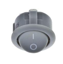Vypínač do desky R13 kolébkový, šedý                                            -Vypínač pro montáž do nábytkové desky