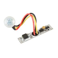 Pohybový PIR spínač do profilu LUX E prodloužený 10x55 mm-Pohybový PIR  spínač slouží k bezkontaktnímu spínání LED osvětlovacích sestav malého výkonu na principu odrazu infračerveného záření vyzařovaného nebo odraženého z objektů.