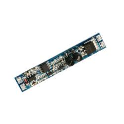Vypínač do LED profilu dveřní IR 10x55 mm-Vypínač IR dveřní slouží k bezkontaktnímu spínání LED osvětlovacích sestav malého výkonu na principu odrazu paprsku infračerveného záření.