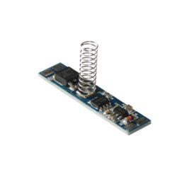 Vypínač a stmívač s pamětí do LED profilu kapacitní LUX E2 10x43 mm-Vypínač a stmívač s dotykovým kapacitním ovládáním do profilu slouží k spínání LED osvětlovacích sestav malého výkonu.