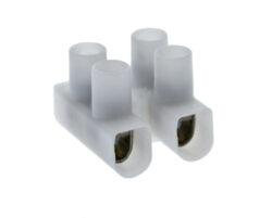 """Svorkovnice šroubovací """"čokoláda"""" 250V 2,5mm2, 2x1pozice-Šroubovací spojka pro jednoduché nastavení dvoulinky"""