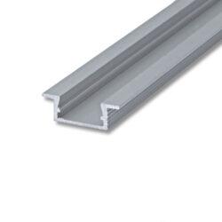 Profil WIRELI 02 ZAPUŠTĚNÁ hliník anod. 26x8x2000mm (metráž)-Hliníkový LED profil k zafrézování.
