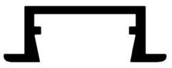 Profil WIRELI 02 ZAPUŠTĚNÁ hliník anod. 26x8x2000mm (metráž)(3205007609)