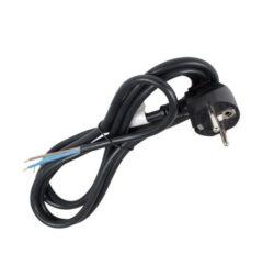 Flexošňůra 3 žilová zástrčka s CZ kolíkem 2m, ks-Pro připojení spotřebiče do elektrorozvodné sítě (barva černá)
