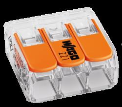 WAGO svorka s páčkou 1x3pin-Bezšroubá svorkovnice pro spojení maximálně tří vodičů