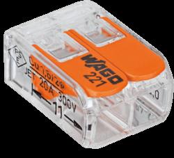 WAGO svorka s páčkou 1x2pin-Bezšroubá svorkovnice pro spojení maximálně dvou vodičů