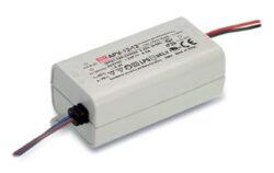 Zdroj napětí 12V  12W 1A IP42 Mean Well APV-12-12 (kar.120)-Miniaturní napěťový napájecí zdroj 12V/12W