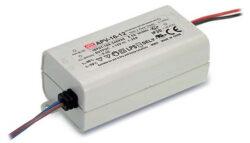 Zdroj napětí 12V  16W 1,25A IP42 Mean Well APV-16-12 (kar.120)-Miniaturní napěťový napájecí zdroj 12V/15W