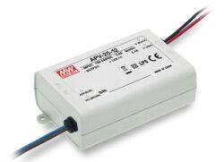 Zdroj napětí 12V  25,2W  2,1A IP42 Mean Well APV-25-12 (kar.72)-Miniaturní napěťový napájecí zdroj 12V/25W