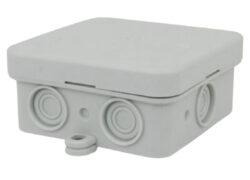 Elekltroinstalační krabice vnitřní, typ K8, 75x75x36mm, IP54, šedá-Elektroinstalační krabice pro vnitřní prostory