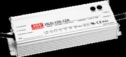 Zdroj napětí 12V 120W 10A IP65 nastavitelný Mean Well HLG-120H-12A